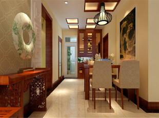 ,140平,11万,中式,三居,餐厅,原木色,