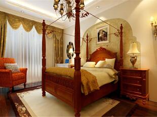 ,140平,11万,欧式,三居,卧室,原木色,