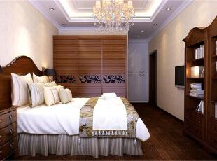 ,120平,7万,欧式,三居,卧室,原木色,
