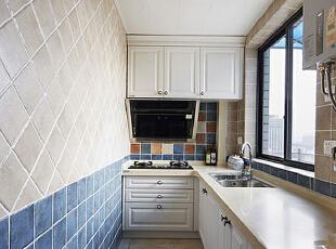 ,75平,6万,地中海,公寓,厨房,白色,