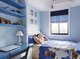 ,75平,6万,地中海,公寓,卧室,黄色,