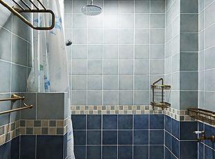 ,75平,6万,地中海,公寓,卫生间,蓝色,