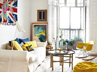 ,58平,4万,欧式,公寓,客厅,白色,