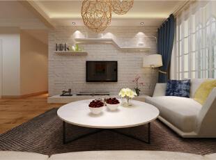 ,88平,6万,现代,两居,玄关,简约,白色,原木色,黄色,客厅,