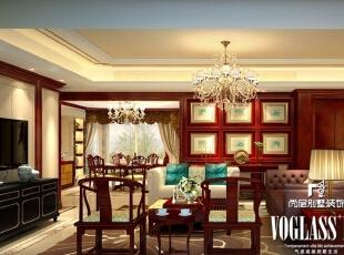 这是一个新中式的别墅装修设计方案,客厅中的木材墙彰显低调的高贵,稳重不失摩登的感觉。配上带图案的壁纸装饰墙及简中式的沙发、白色灯笼水晶灯,折射出温暖的光源,使整个空间洋溢着中国特色的风情及时尚的文化氛围。,250平,160万,中式,大户型,客厅,原木色,