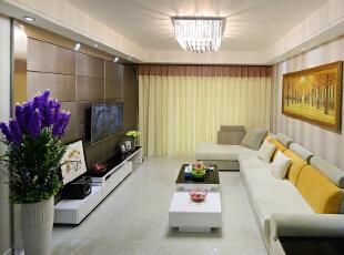 ,102平,12万,简约,两居,客厅,黄色,