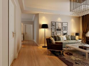 ,89平,6万,现代,两居,客厅,