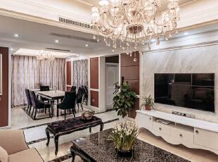 ,157平,18万,现代,三居,客厅,白色,