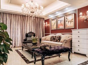 ,157平,18万,现代,三居,客厅,红色,