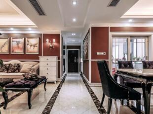 ,157平,18万,现代,三居,红色,客厅,
