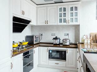 ,157平,18万,现代,三居,厨房,白色,