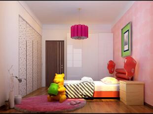 ,125平,7万,简约,三居,卧室,粉色,