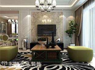 金林中心装修案例91平2室两2厅现代简约风格样板间——电视背景墙,91平,8万,现代,两居,客厅,白色,