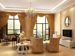 ,260平,33万,欧式,Loft,客厅,黄色,