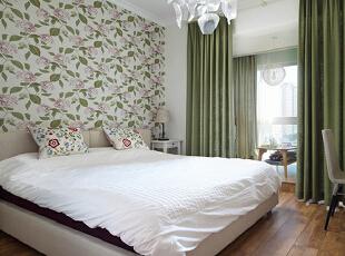 ,120平,10万,现代,三居,卧室,白色,