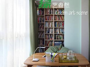 ,120平,10万,现代,三居,书房,原木色,