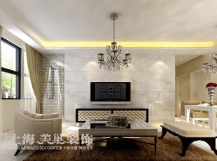 郑州信息工程学院家属院110平方三室两厅现代简约风格装修效果图---电视墙,电视背景墙采用仿石材砖,镂空花格,灰镜等高档材料,表现出墙面的大气,上档次,材料丰富等装修风格。,110平,8万,现代,三居,客厅,白色,