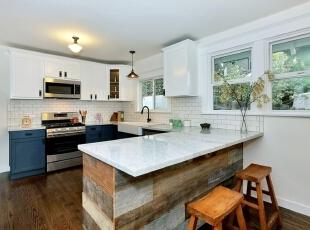 厨房设计,134平,15万,欧式,三居,厨房,白色,