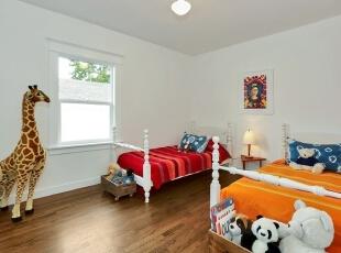 儿童房设计,134平,15万,欧式,三居,儿童房,白色,原木色,