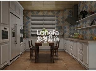 石家庄盛邦大都会138㎡户型美式风格装修效果图案例,138平,5万,美式,三居,