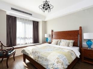 ,140平,12万,美式,三居,卧室,白色,