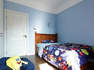 ,140平,12万,美式,三居,儿童房,蓝色,