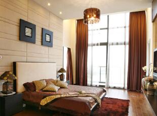 ,490平,60万,中式,别墅,卧室,原木色,