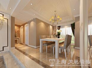 郑州鑫苑名家230平复式现代简约装修样板间——餐厅1装修效果图,230平,20万,现代,复式,餐厅,白色,