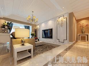 鑫苑名家230平复式现代简约装修案例——电视背景墙装修效果图,230平,20万,现代,复式,客厅,黄色,
