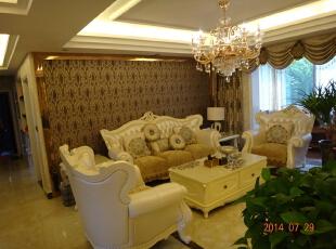,143平,15万,欧式,三居,客厅,黄色,