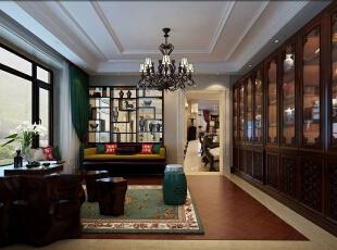 ,400平,60万,混搭,大户型,客厅,原木色,黄色,