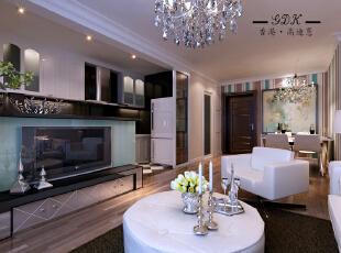 ,120平,20万,两居,现代,客厅,黑白,