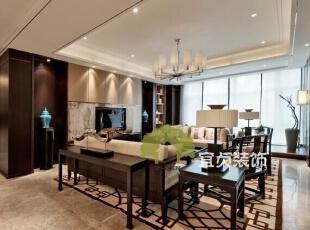 ,125平,11万,中式,公寓,客厅,黑白,
