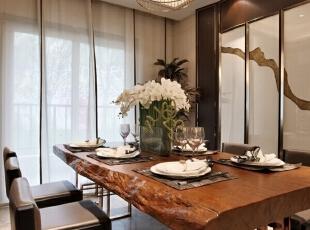 ,125平,11万,中式,公寓,餐厅,原木色,