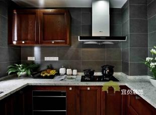 ,125平,11万,中式,公寓,厨房,红色,白色,