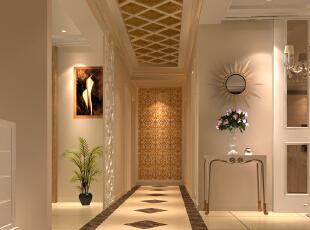 此户型以新古典欧式风格为主题,结合客户自身的需求与习惯,为了给业主创造一个简约、时尚、舒适的环境。设计中打破了纯古典欧式设计的观念,将古典的皇家装饰元素融入了现代风格设计,使整个空间高贵不失典雅。   客厅大气、简约、沉稳为主基调,不要过多累赘复杂的造型,体现了主人的内蕴品性。沙发造型是欧美的实木家具,稳重又不失简约。 浅黄色的壁纸再配以高贵典雅的水晶吊灯,将整个房间的贵族气质显现得淋漓尽至。,160平,19万,欧式,三居,玄关,