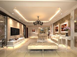 此户型以新古典欧式风格为主题,结合客户自身的需求与习惯,为了给业主创造一个简约、时尚、舒适的环境。设计中打破了纯古典欧式设计的观念,将古典的皇家装饰元素融入了现代风格设计,使整个空间高贵不失典雅。   客厅大气、简约、沉稳为主基调,不要过多累赘复杂的造型,体现了主人的内蕴品性。沙发造型是欧美的实木家具,稳重又不失简约。 浅黄色的壁纸再配以高贵典雅的水晶吊灯,将整个房间的贵族气质显现得淋漓尽至。,160平,19万,欧式,三居,客厅,
