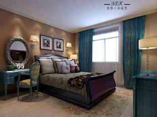 ,140平,25万,大户型,混搭,卧室,蓝色,黄色,