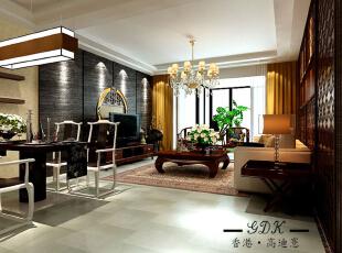 ,140平,22万,大户型,中式,客厅,黑色,原木色,