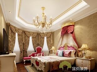,260平,30万,欧式,大户型,卧室,黄色,