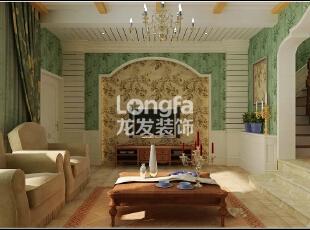 石家庄江南新城450㎡户型美式风格惬意时尚装修效果图案例,450平,50万,美式,别墅,