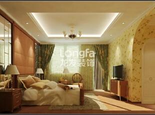 石家庄江南新城450㎡户型美式风格惬意时尚装修效果图案例,450平,50万,美式,别墅,客厅,黄色,绿色,
