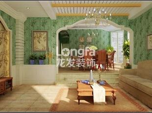 石家庄江南新城450㎡户型美式风格惬意时尚装修效果图案例,450平,50万,美式,别墅,餐厅,原木色,绿色,