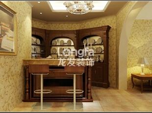 石家庄江南新城450㎡户型美式风格惬意时尚装修效果图案例,450平,50万,美式,别墅,客厅,黄色,