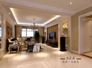 ,140平,30万,大户型,欧式,客厅,黄色,