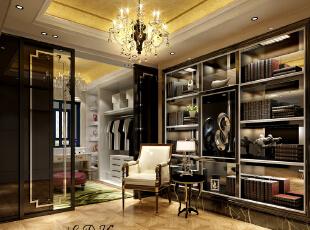 ,160平,40万,大户型,欧式,衣帽间,黑白,