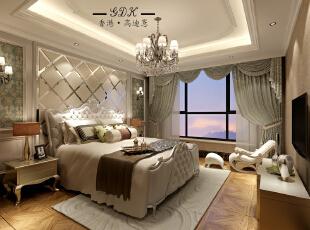 ,160平,40万,大户型,欧式,卧室,白色,