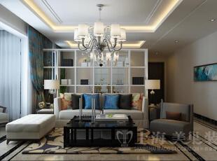 方圆经纬142平四室两厅装修简约时尚效果图集锦——客厅是沙发背景墙,米色的沙发与墙壁相映成趣,让人仿佛已经嗅到了淡淡的薰衣草香气,亮面的抱枕简单中充满新意,打造出一方令人过目不忘的温馨天地。,142平,10万,简约,四居,方圆经纬装修,美巢装饰,装修装饰,装修优惠,装修团装,客厅,黑白,