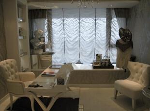 书房,灯光设计非常重要。,120平,17万,现代,一居,书房,白色,