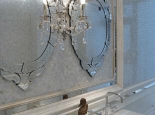 精致的镜子,120平,17万,现代,一居,卫生间,白色,